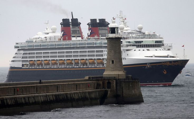 The Disney Magic cruise ship moored arrives at the mouth of the Tyne | Disney | Disney Cruise Ship | Disney Magic | North Shields | Cruise Ship | North East