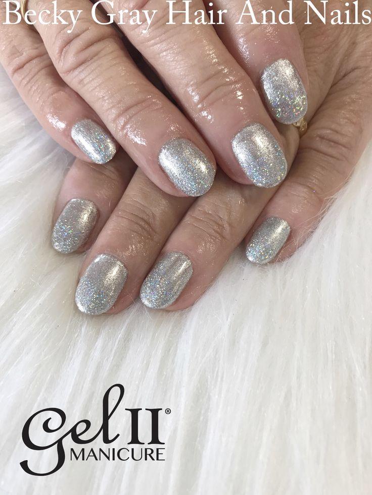 Metallic and magpie glitter Lola gelii manicure