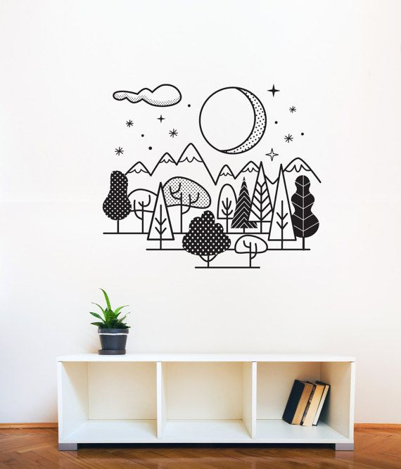 *Original illustration illustrated by Mojca Dolinar. Night sky in forest.  *SHEET DIMENSIONS 70 x 59 cm / 27.5x 23.2  *WHAT IS INCLUDED ON ONE SHEET?