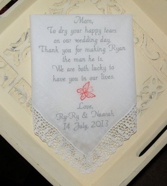 17 best Mother In Law Wedding Handkerchief My Second Mom images on ...