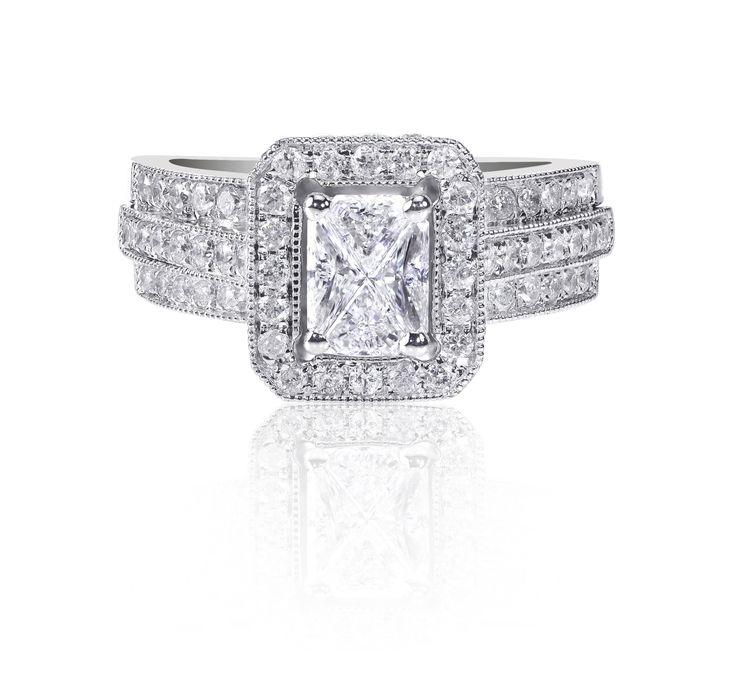 Cómo limpiar anillos de diamante de oro blanco