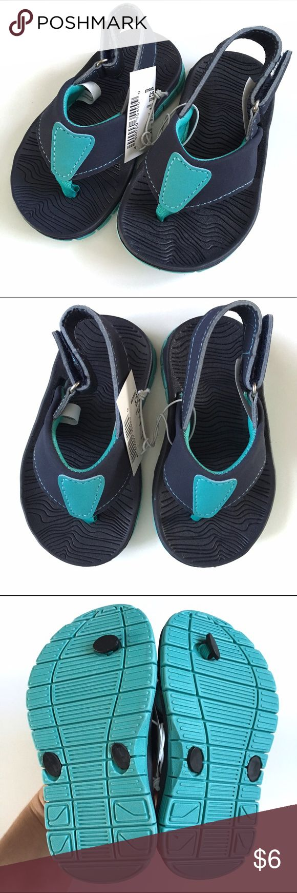 🚀 NWT Children's Place Flip Flops 🚀 NWT Children's Place Boys Flip Flops. Toddler size 6/7. In navy and blue with ribbed soles and velcro strap at ankle.❗️Must be Bundled❗️ Children's Place Shoes Sandals & Flip Flops