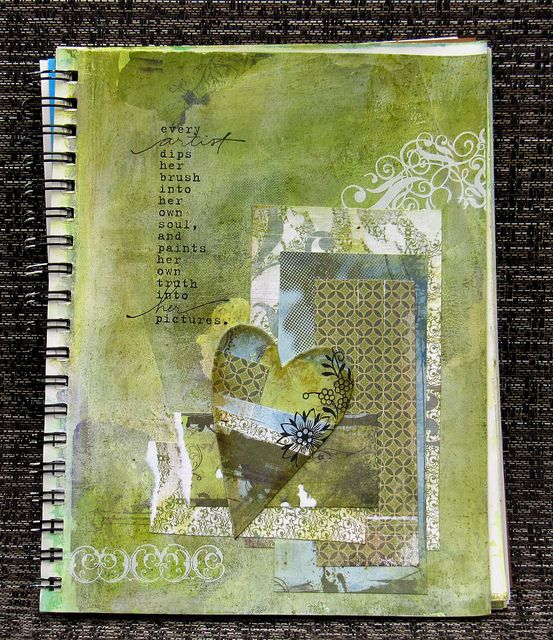 green art journal page