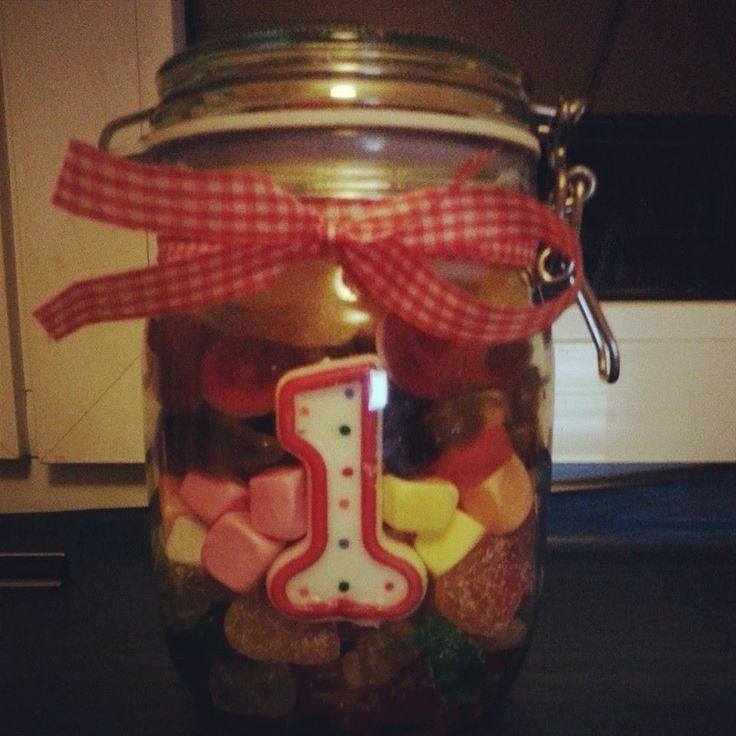#candy #jar #gift #jelly #sweets #first #anniversary