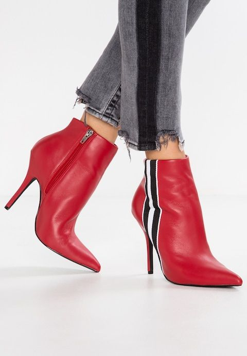 a57d4af3312 KNOCK - High heeled ankle boots - red @ Zalando.co.uk 🛒 | Amazing ...