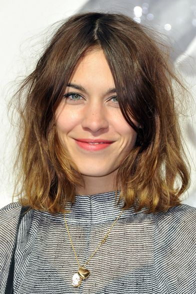 alexa chung's hair easy to do with a #ghd