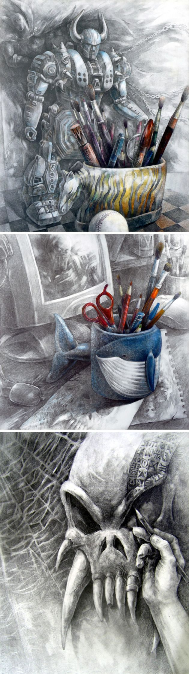 Awesome Character Drawings: AP Studio Art | Student Art Guide