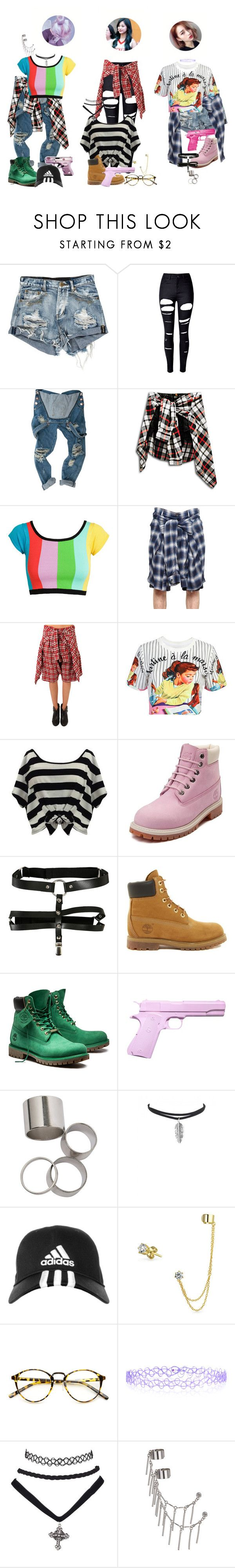 """😻 Purrfectas ""That's My Girl"" @ Music Bank"" by purrfectas ❤ liked on Polyvore featuring WithChic, Jeremy Scott, Maison Mihara Yasuhiro, R13, Piper Lane, Timberland, Hello Kitty, L'ÉCLAIREUR, adidas and Bling Jewelry"