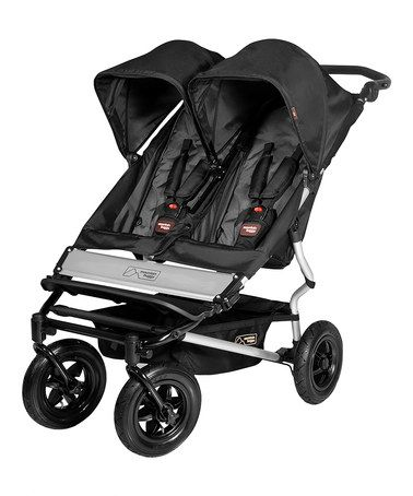 Take a look at this Mountain Buggy Black & Flint Duet Double Buggy 2013 Model by Mountain Buggy on #zulily today!