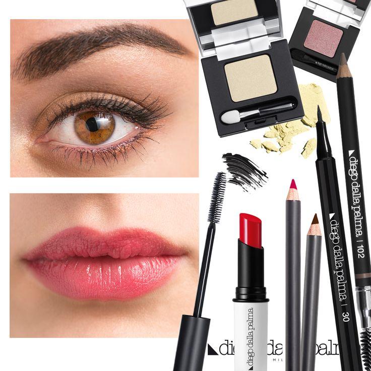 Natural spring look by diego dalla palma milano #diegodallapalma #makeup #motd #naturalmakeup #eyes #lips #eyeliner