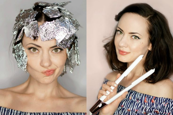How To Curl Hair with Tin Foil and a Flat Iron http://stylesprinter.com/how-to-curl-hair-with-tin-foil-and-a-flat-iron/