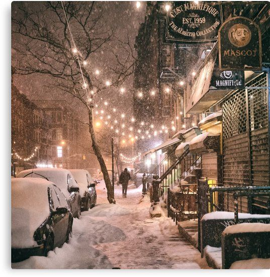 Buy 'East Village in the SnowNew York City' by Vivienne Gucwa as a T-Shi…