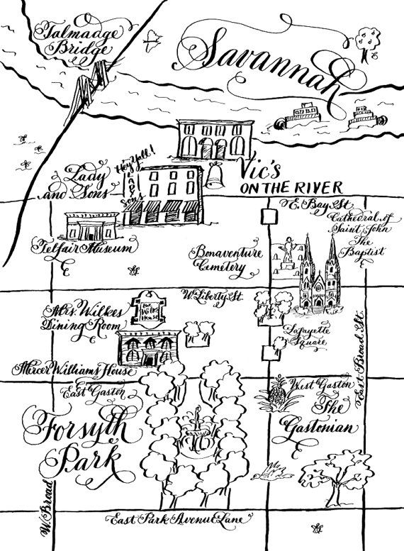 Calligraphy Wedding Maps for Weddings and by DesignsByRobynLove
