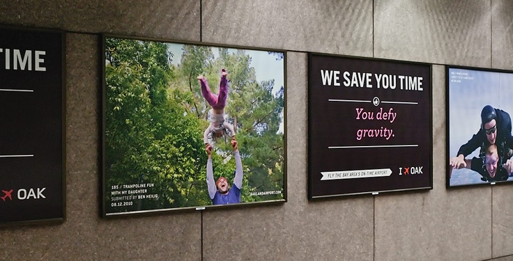 An advertising campaign for Oakland International Airport. (2011)