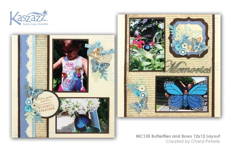 MC135 Butterflies and Bows 12x12 Layout
