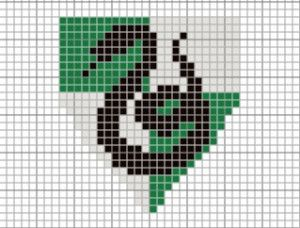 Wizardcraft: Cross-Stitch Your Hogwarts House Badge