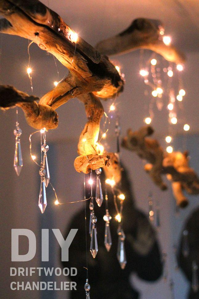 DIY Driftwood Chandelier