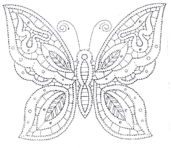 A Bobbin Lace Lover: Patterns of butterflies