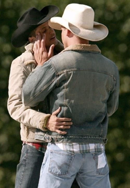 from Ezra gay kissing cowboys