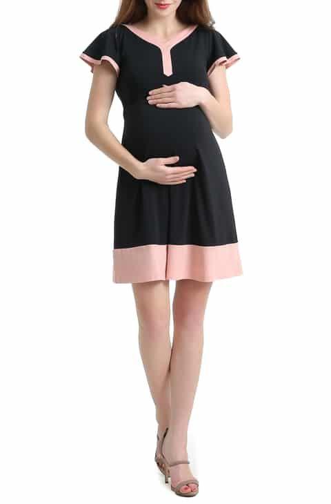 b37fff5060526 Kimi and Kai Regan Colorblock Skater Maternity Dress Best Reviews in ...