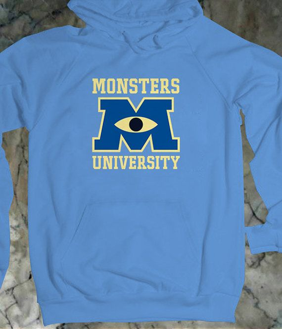 "Monster University Hoodie, Disney Monster University Unisex Cool Hoodies {Size Print 10""x10"" - Color Available}"