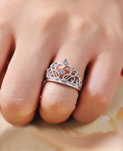 Crown Engagement Ring Wedding Ring