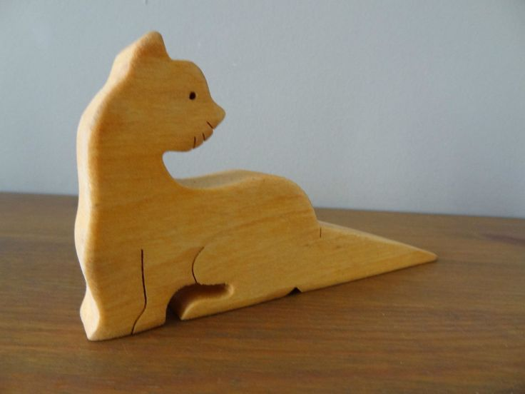 Wooden Cat Door Wedge / doorstop bedroom playroom shop office club kids in Home, Furniture & DIY, Home Decor, Door Accessories/ Furniture, Door Stops | eBay