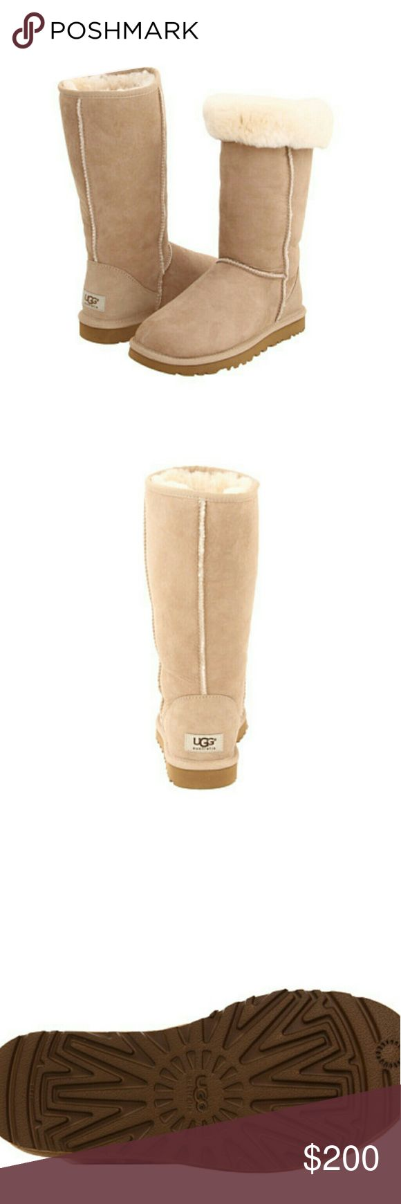 NEW UGG Classic Boots Brand new 100% authentic UGG Australia Sand Classic Tall Boots.  I have two pairs of these, size 5 and 6 women. Both have never been worn.  They come with the original box, wrapping paper and authenticity cards!   If you have any questions please let me know thank you!  tags: boots boot bootie uggs Australia butte warm shoes youth kids 2.5 3 3.5 4 marmot adidas Canada goose Northface nike warm weather 4y 3y gray UGG Shoes Winter & Rain Boots