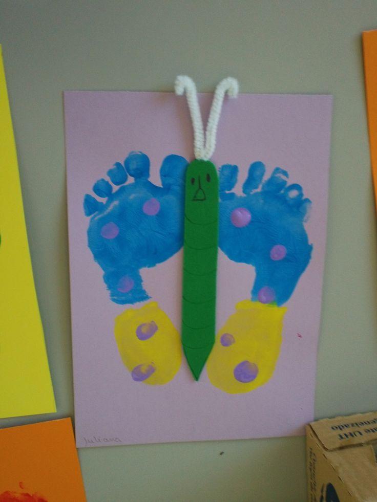 meu borboleta com pés