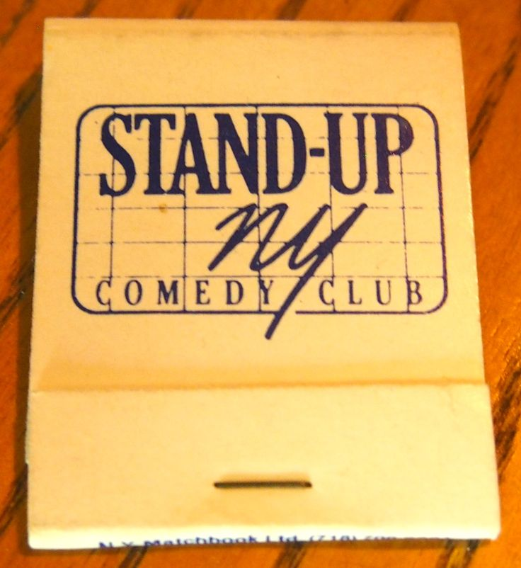 Stand-Up NY Comedy Club. 20 stem #matchbook - To order your business' own branded #matchboxes and #matchbooks, go to www.GetMatches.com or call 800.605.7331 today!
