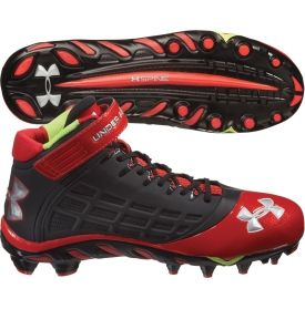 Under Armour Men's Spine Fierce Mid MC Football Cleat - White/Black