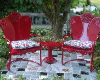 Garden Chairs For A Dollhouse Or Miniature Garden Or Fairy Garden