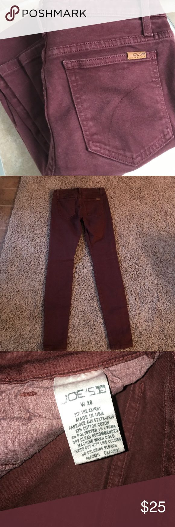 Maroon Joe's skinny jeans GUC perfect season for Maroon jeans! Bundle for extra savings! Jeans Skinny