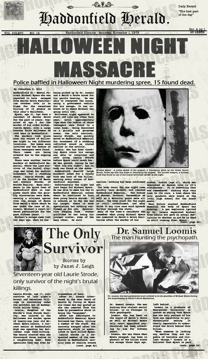 Halloween... This one girl in my math class is afraid of Michael Myers and you…