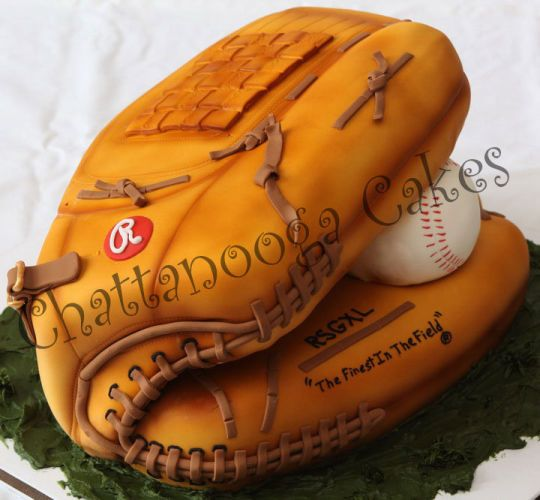 Baseball Glove Cake - Cake by Sandy Thompson - CakesDecor