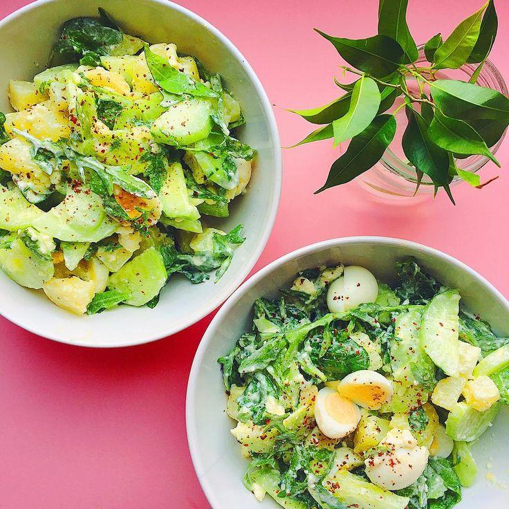 1,410 отметок «Нравится», 7 комментариев — Salatshop ♡ you (@salatshop) в Instagram: «Let's Salad 💚 Варёный картофель, перепелиные яйца, огурец, руккола, шпинат и заправка из оливкового…»