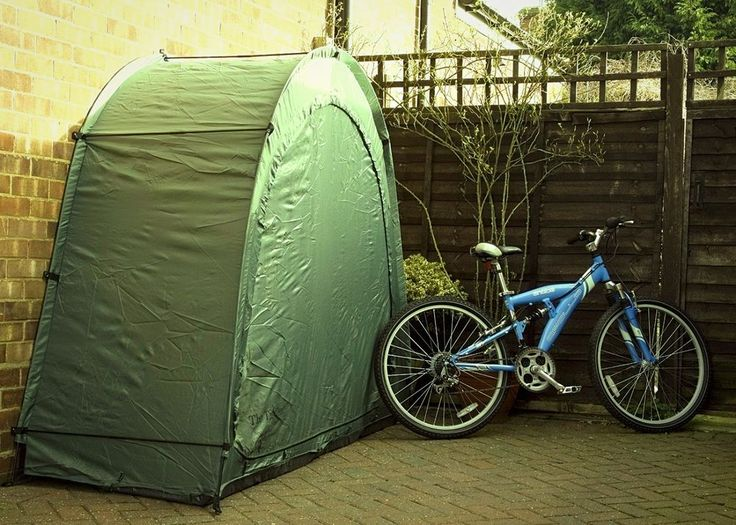 Bike Storage Tent Garden Rain Snow Slide Off Cave Cover 2 Bicycles Front Zipped