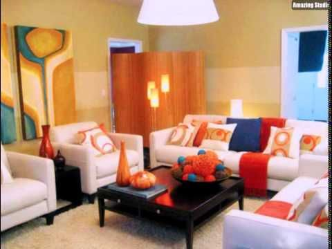 71 best wohnzimmer wandgestaltung streichen images on Pinterest - wohnzimmer schwarz weis orange