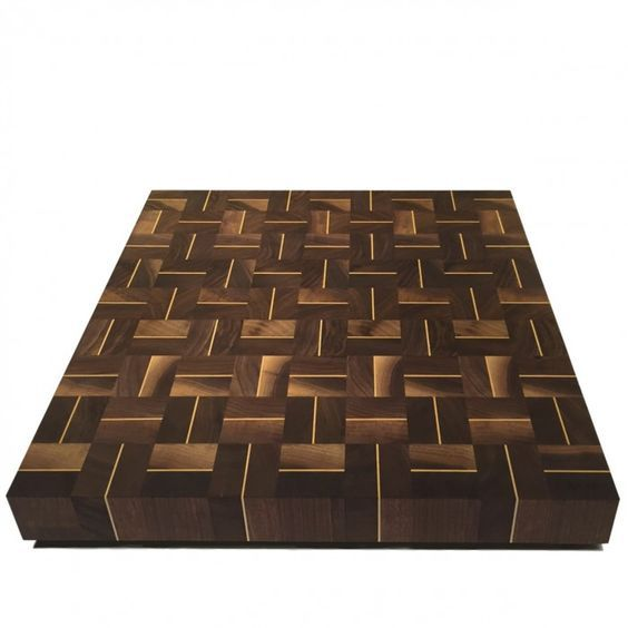 Arbol 16 x 16 in. walnut and maple end-grain cutting board