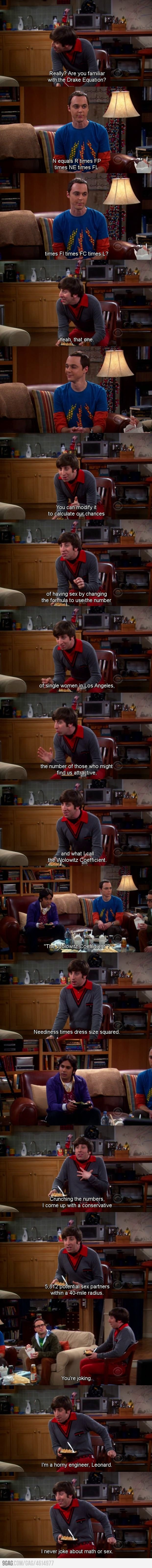 "The Big Bang Theory -  Howard Wolowitz ""Just a horny engineer"""