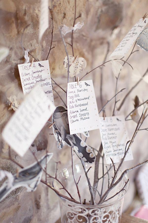 Tree wedding table plan