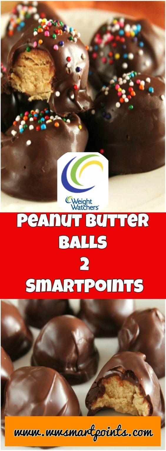 Peanut Butter Balls weight watchers SmartPoints : 2