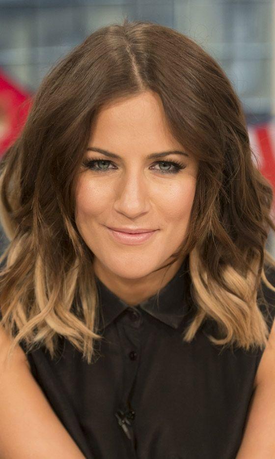 Caroline Flack With Dip Dye Hair, 2012