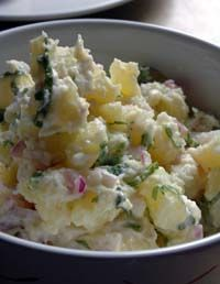Spaanse aardappel salade voor 4 tapas