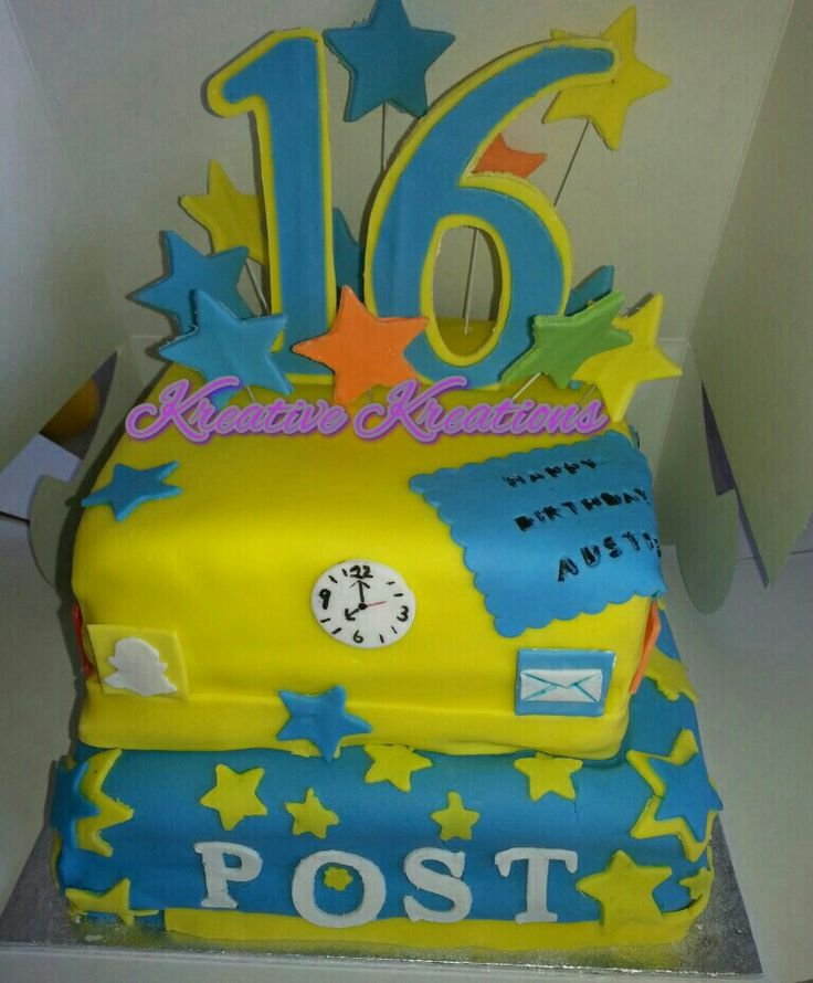 Social media cake for teen boy