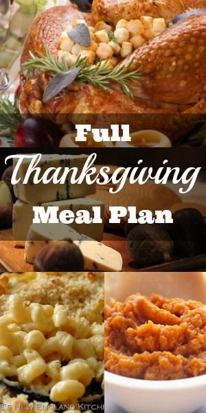 Thanksgiving Meal Plan - Everything you need! - Go grocery shopping and put together Thanksgiving dinner for a family in need.
