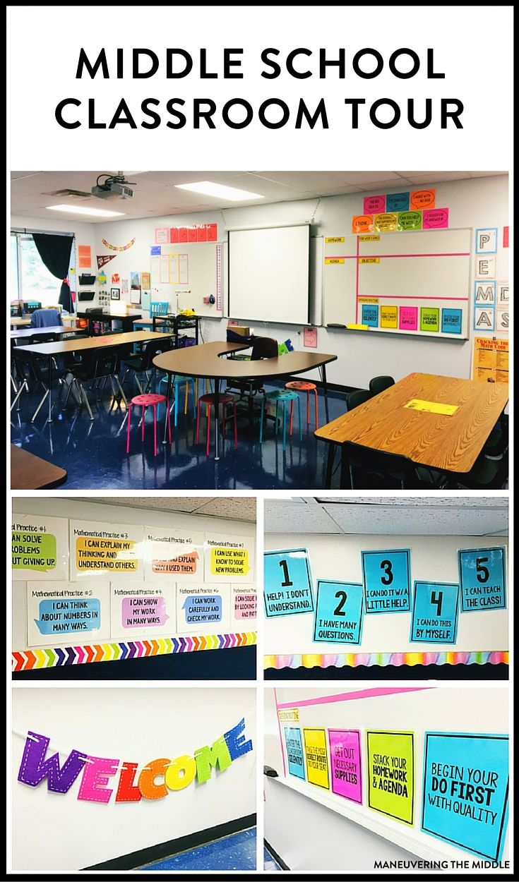 Great ideas and inspiration in this middle school classroom reveal - from…