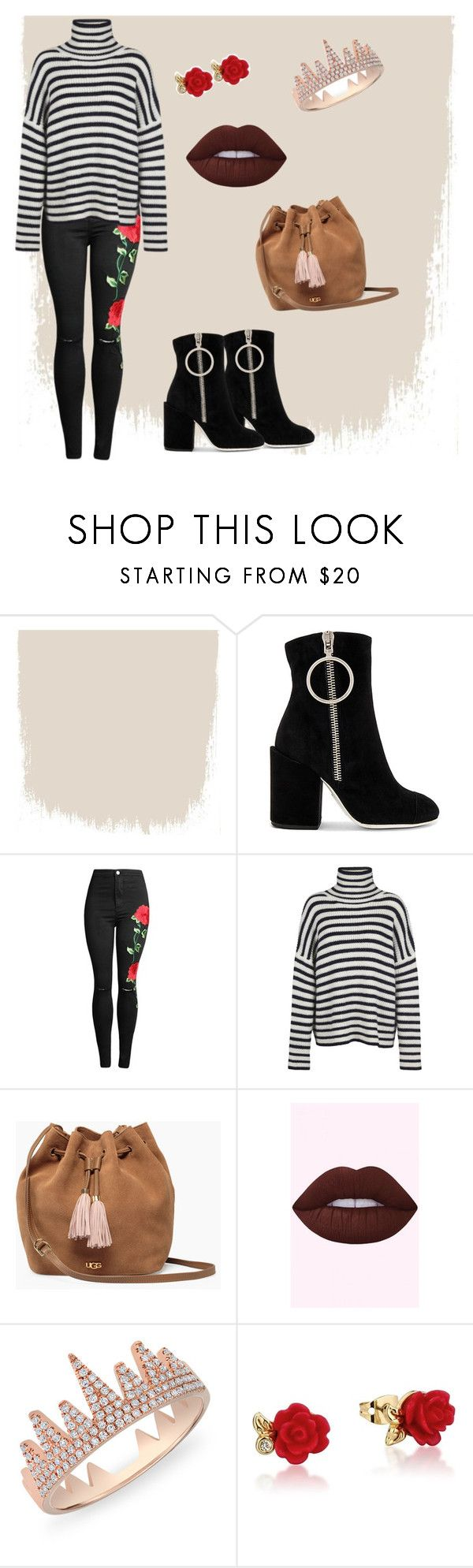"""outfit#88"" by alifia-fae on Polyvore featuring Off-White, Samsøe & Samsøe, UGG, Anne Sisteron and Disney"