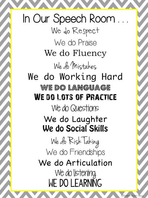 Speech Room News:  In Our Speech Room Poster {FREEBIE}