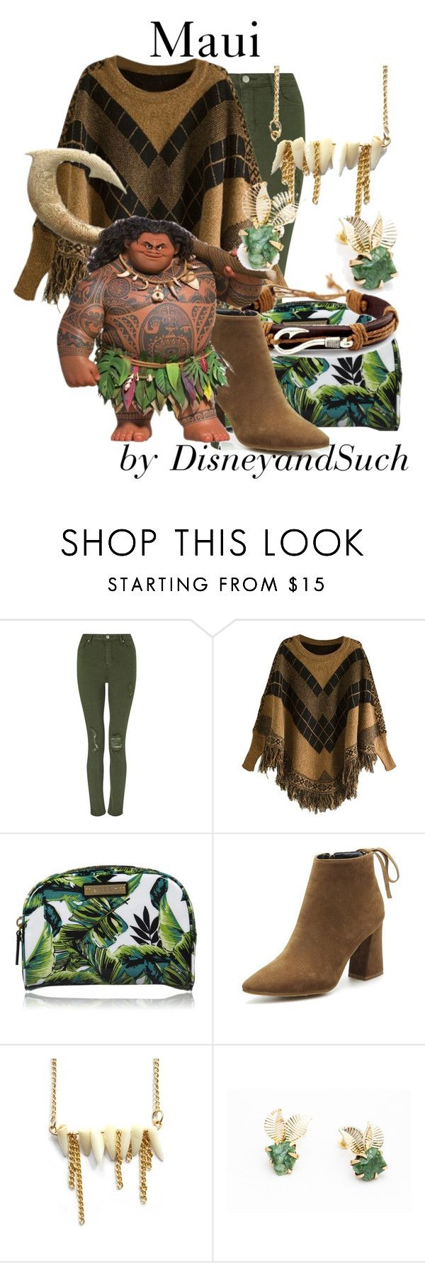 """""""Maui"""" by disneyandsuch ❤ liked on Polyvore featuring Miss Selfridge, Milly, CORO, disney, disneybound, moana and WhereIsMySuperSuit"""